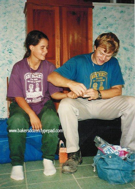 Teen Missions Brazil Fish 1993, testing for Malaria.