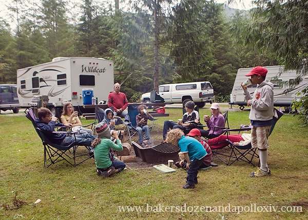 large family, large family blog, pacific northwest, camping in the pacific northwest, large family camping