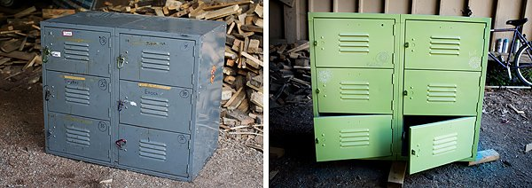 how to paint metal lockers