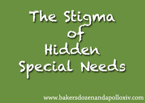 The stigma of hidden special needs
