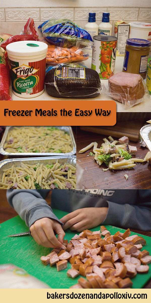 How to make freezer meals the easy way.