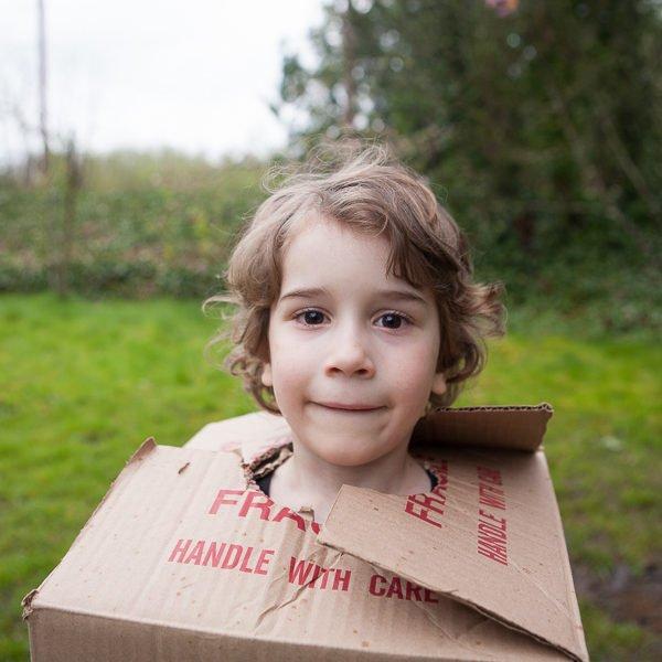 kids dressed as boxtrolls