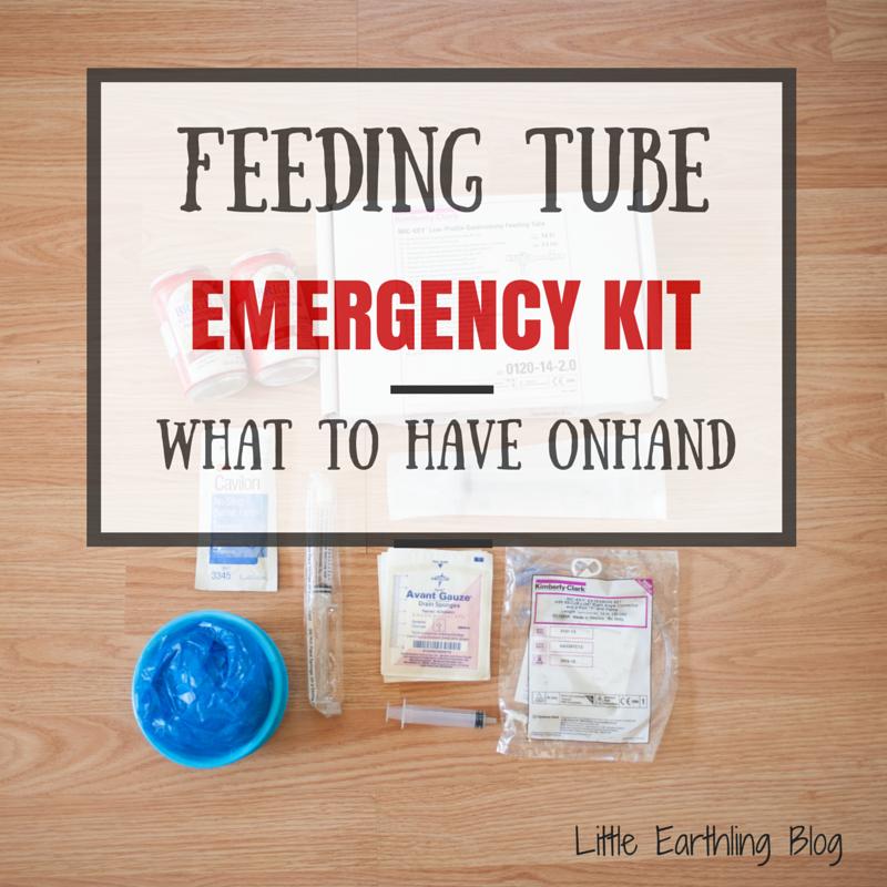Feeding tube emergency kit