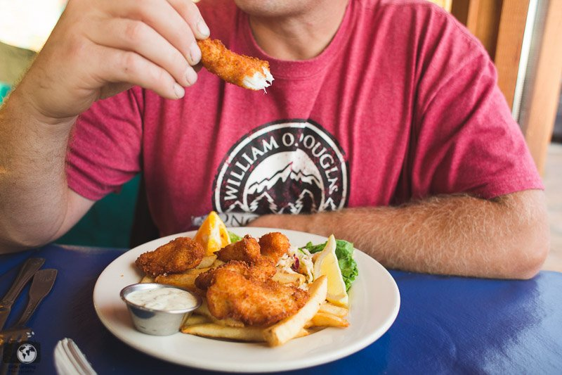 Fish and chips at The Fishermans in Seattle