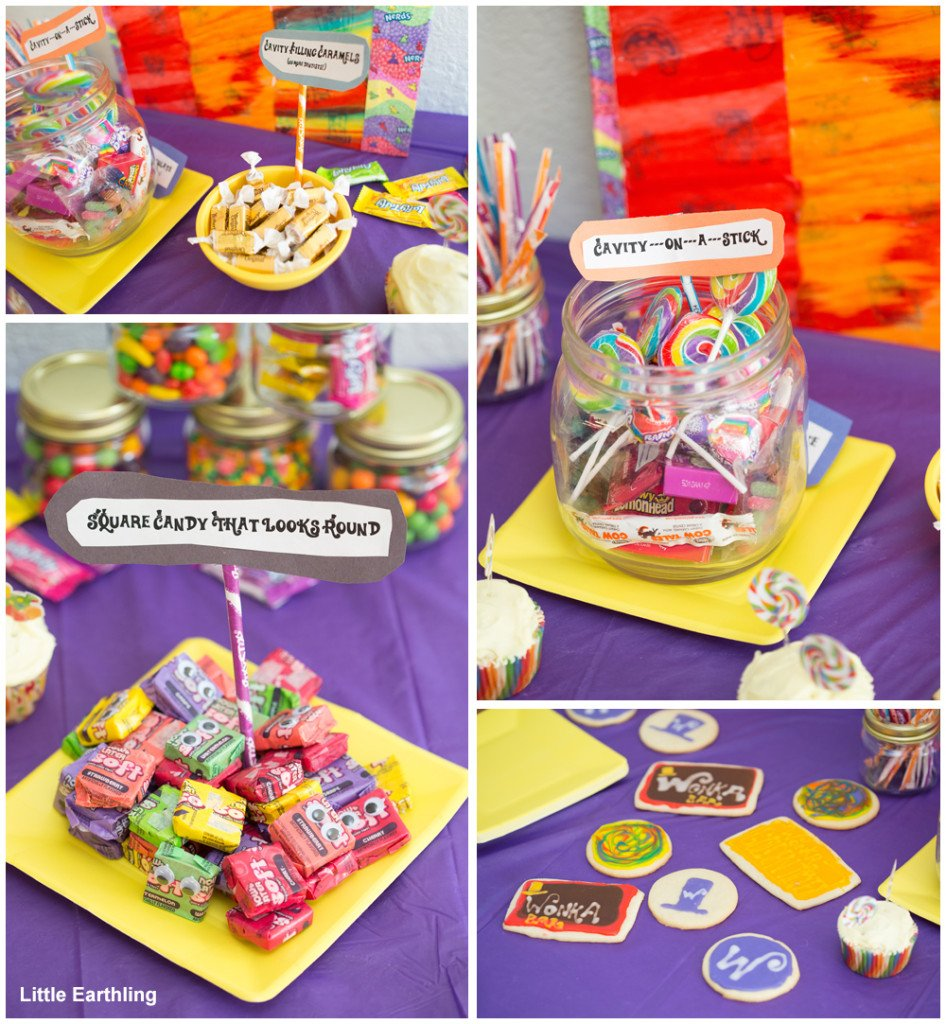 willy wonka inspired candies for a willy wonka party