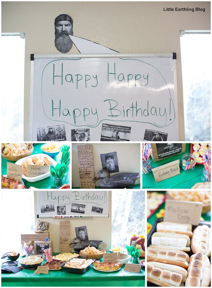 Duck Dynasty Party Food and Decorations