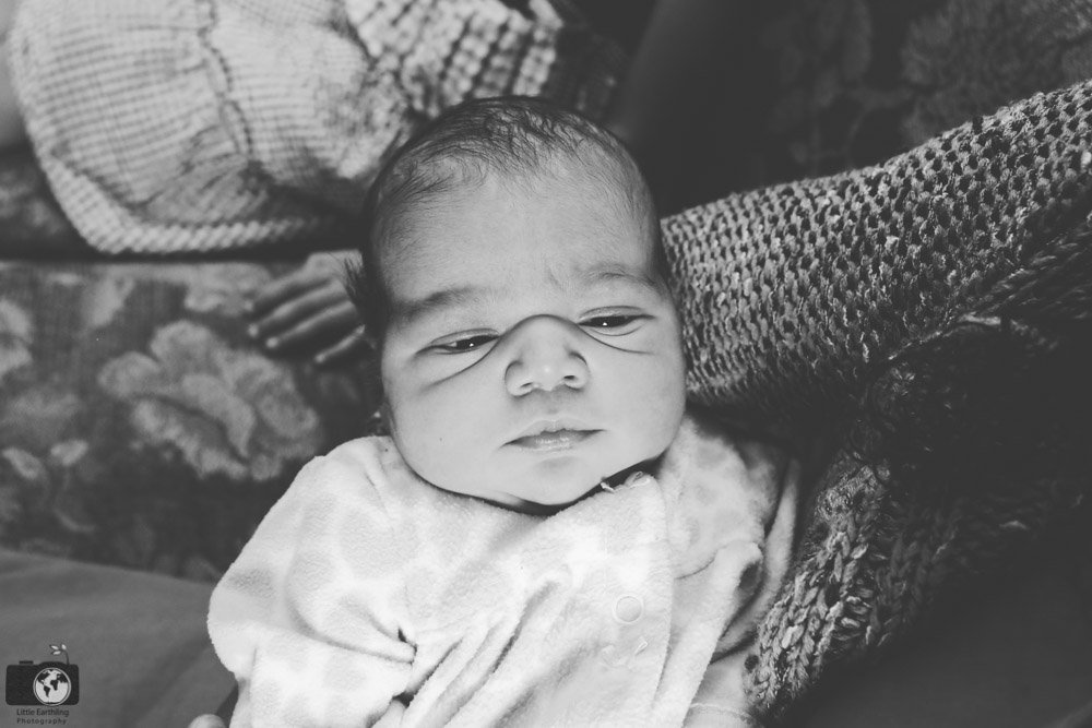 newborn biracial baby