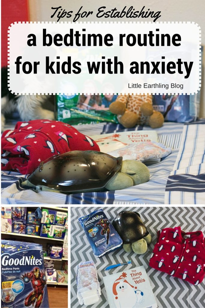 Establishing a bedtime routine for children with anxiety.
