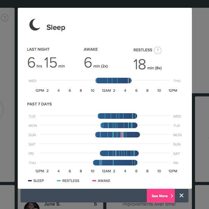My fit bit tracks my sleep at night.