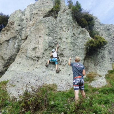 Rock climbing in New Zealand. Seeding my 15 year old to New Zealand as an unaccompanied minor.