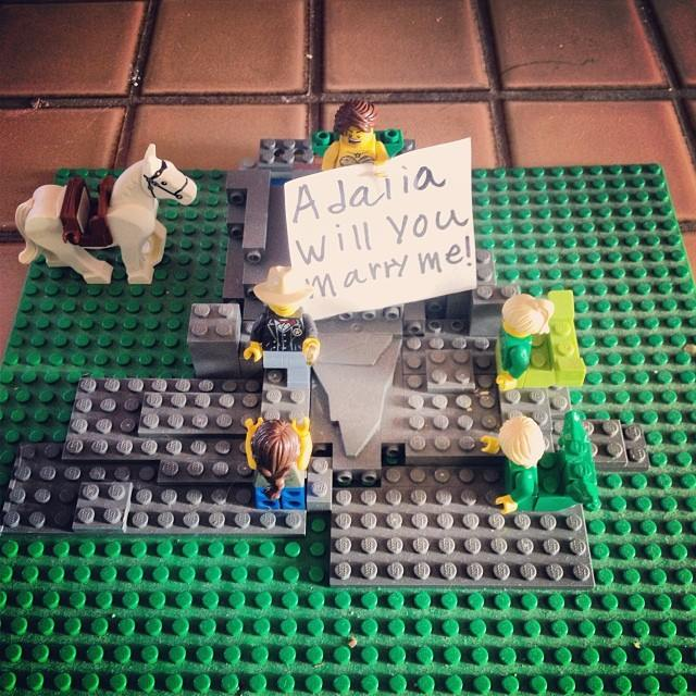 Learning with LEGO: LEGO marriage proposal.