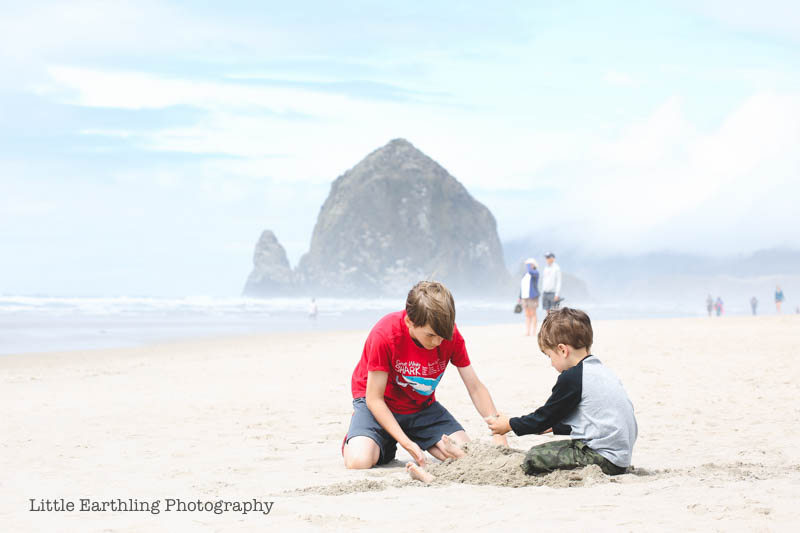 Camping in Oregon and visiting Cannon Beach.