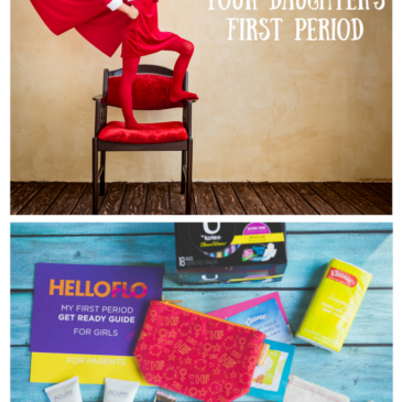 How to Survive Your Daughter's First Period {HelloFlo}