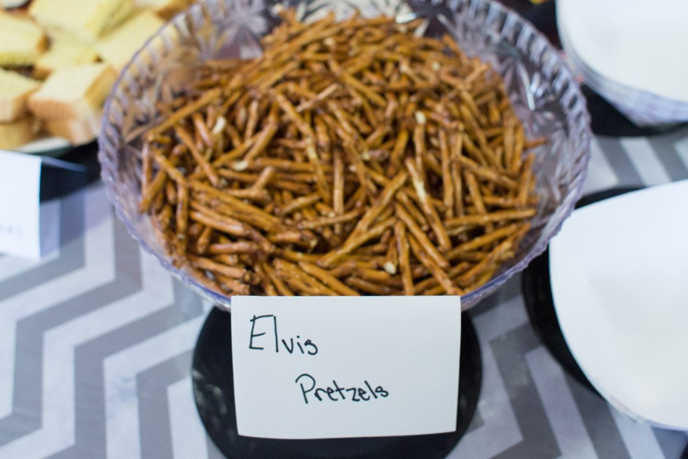 Be sure and serve Elvis pretzels at your Elvis party!