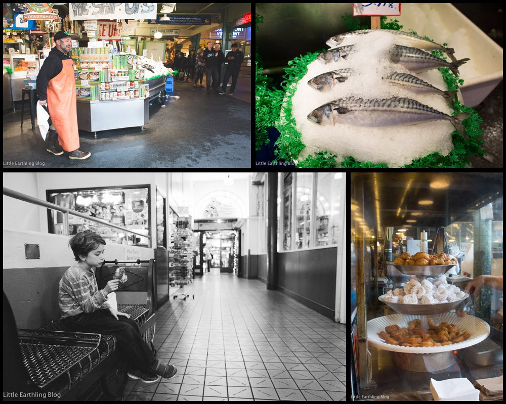 At Pike Place Market in search of some Seattle Adventures.