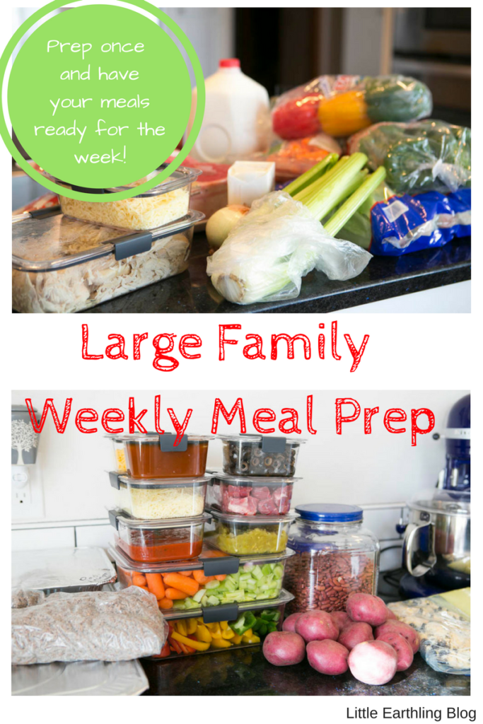 Large Family Weekly Meal Prep: Prep once to save time and money. Learn how to use leftovers to create new meals.