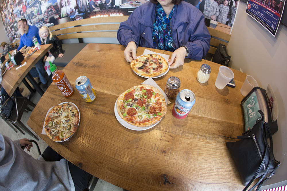Visiting Mod Pizza with mom. What can I say? I'm a bit obsessed.
