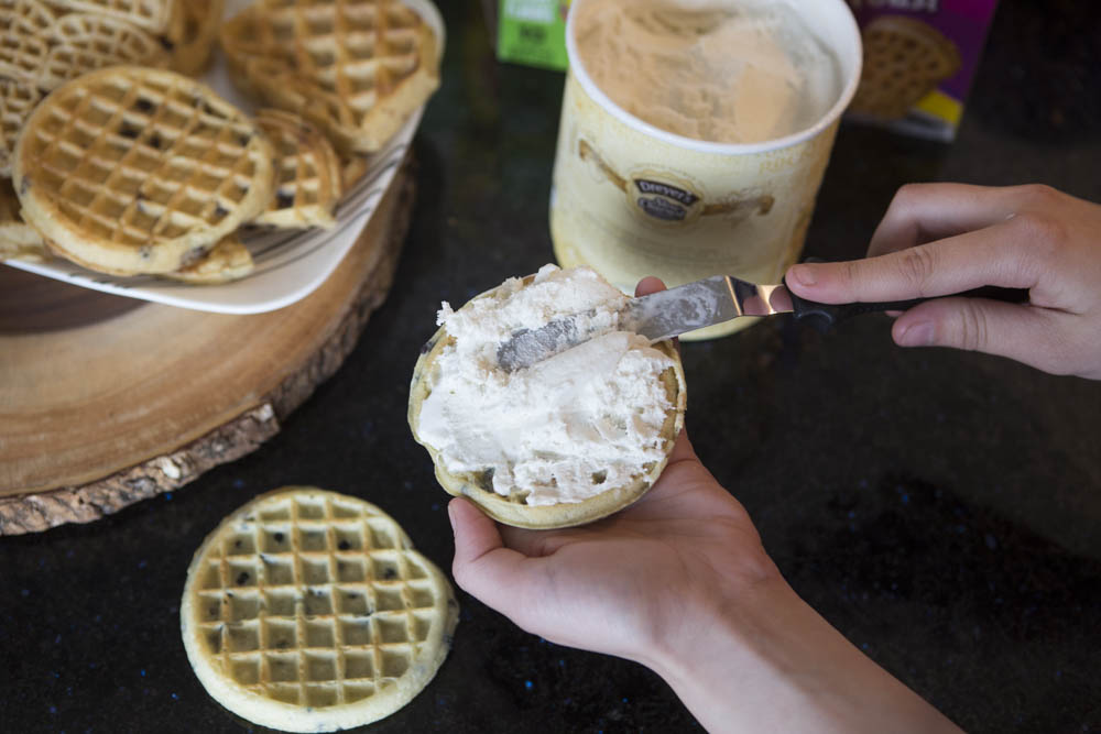 Waffle Ice Cream Sandwiches Are The Perfect Summertime Dessert
