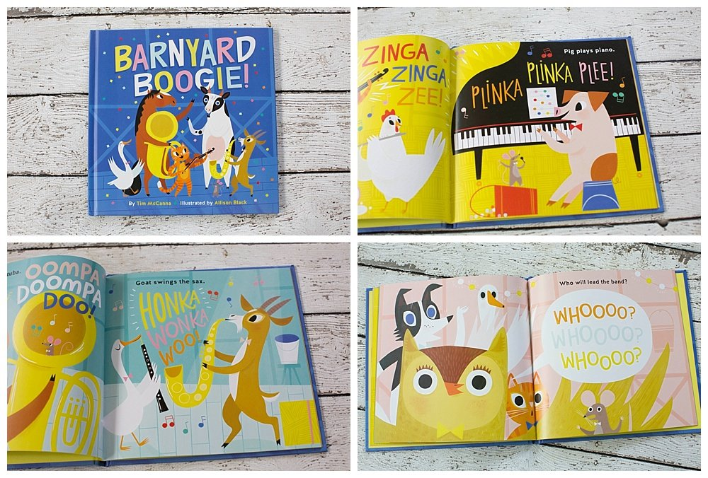 Barnyard Boogie: Come see what happens when all the animals except cow can play an instrument.