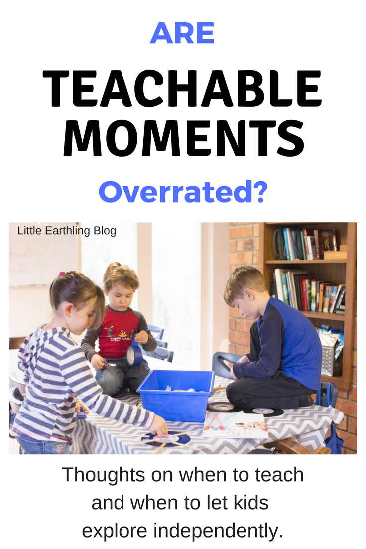 Are teachable moments overrated? Thoughts on when to teach and when to sit back and observe.