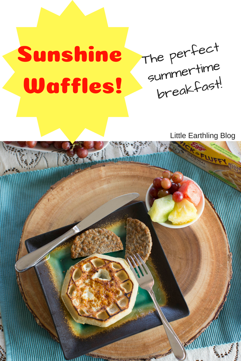 Sunshine waffles make a delicious breakfast treat.