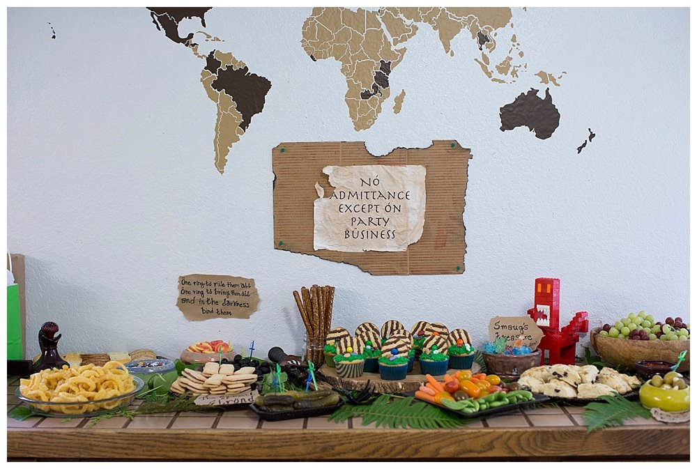 A beautiful and simple tablescape for a Hobbit Party.