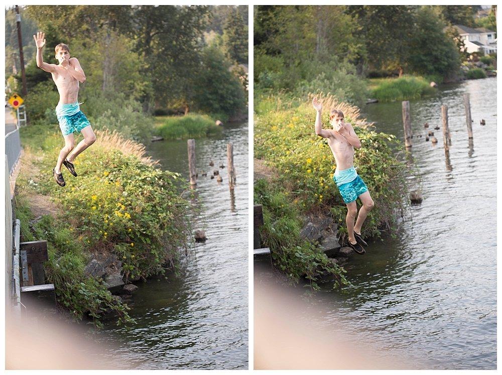 Hezekiah bridge jumping.