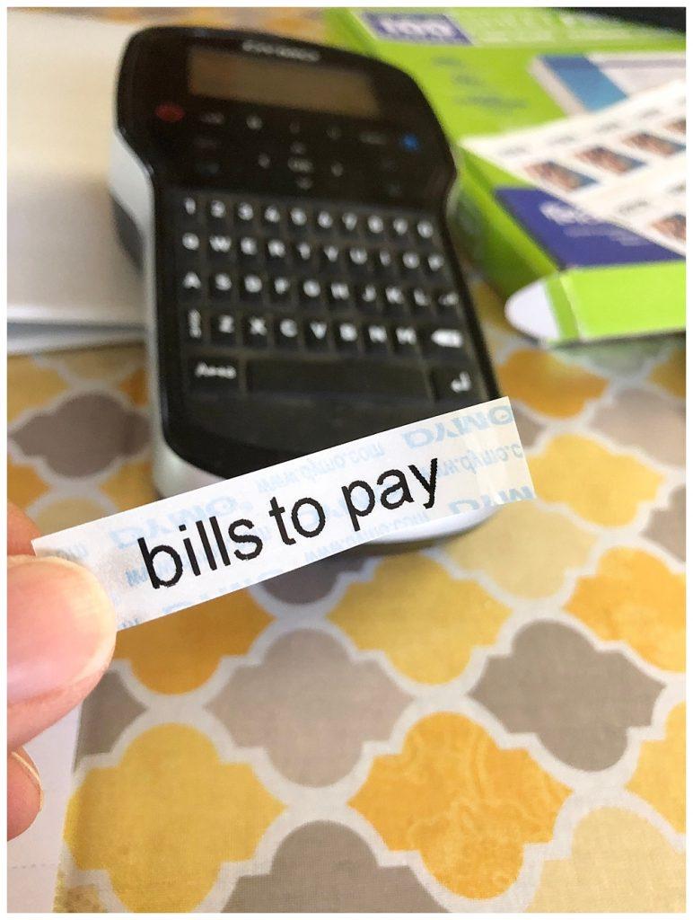 Large family budget hack: bill-paying binder.