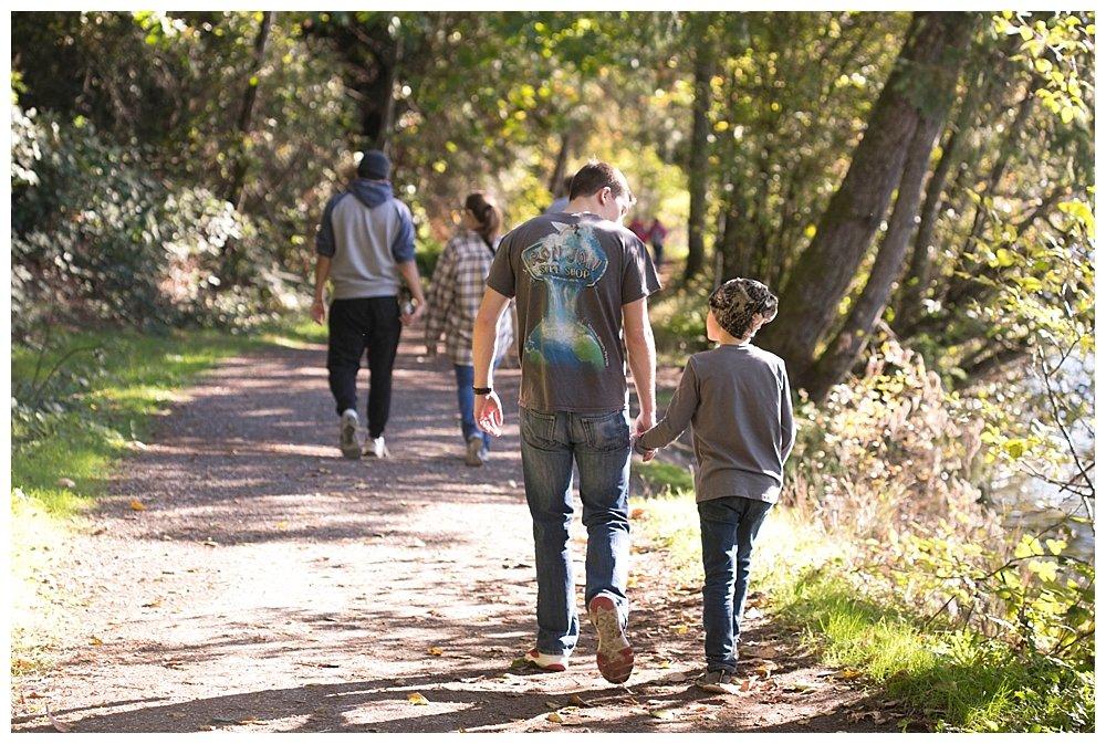 Judah and Apollo hiking