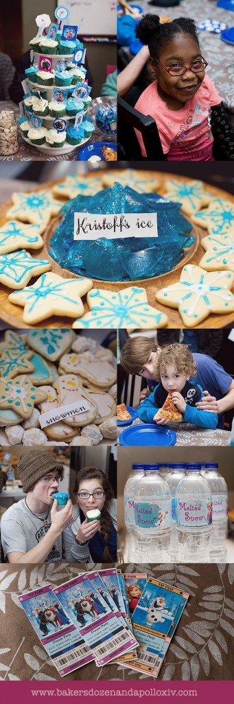frozen party, how to have a frozen party, frozen party ideas, food for frozen party, frozen crafts, crafts for frozen party