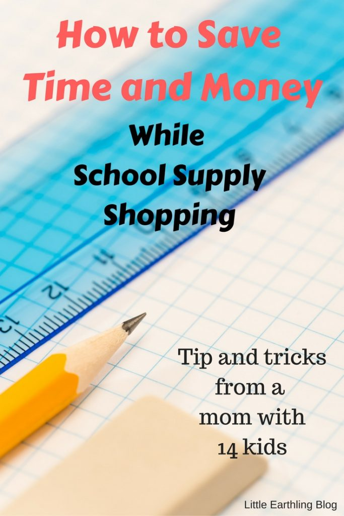 How to save money on school supply shopping. Tips from a mom with 14 kids.