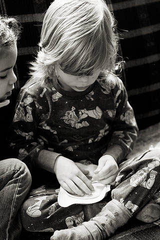 Cross stitch can be a great way to occupy preschoolers while they work on fine motor skills.