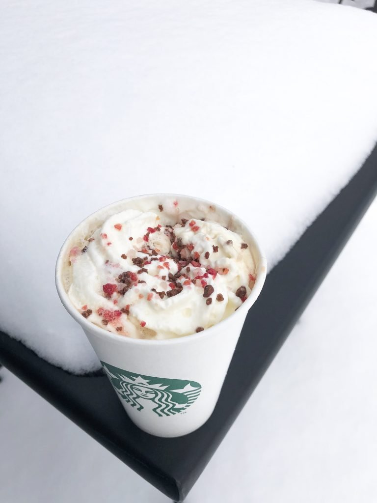 Snow days and appointments can be more pleasant when sipping a cherry mocha.
