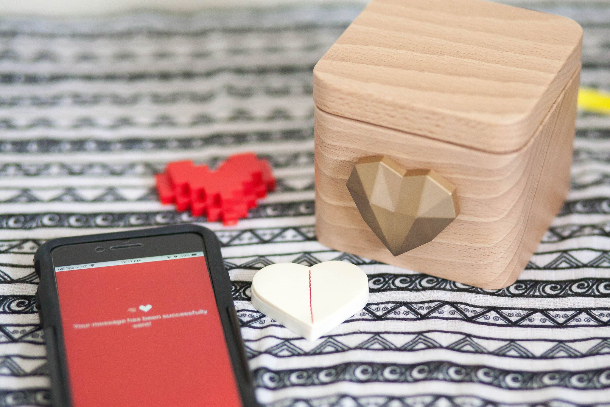 The Love Box is a great way to send a message of love to distant family.