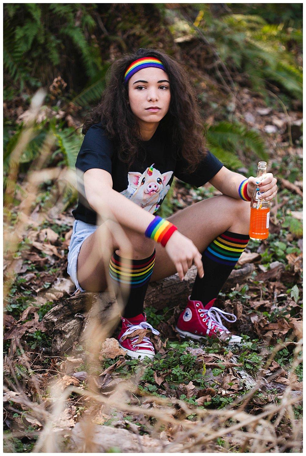 Sassy Avi in the woods.