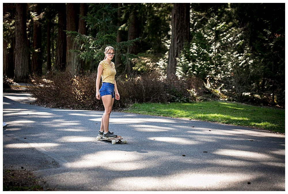 Kalina is embracing her identity as Skater Girl. She loves riding her longboard.