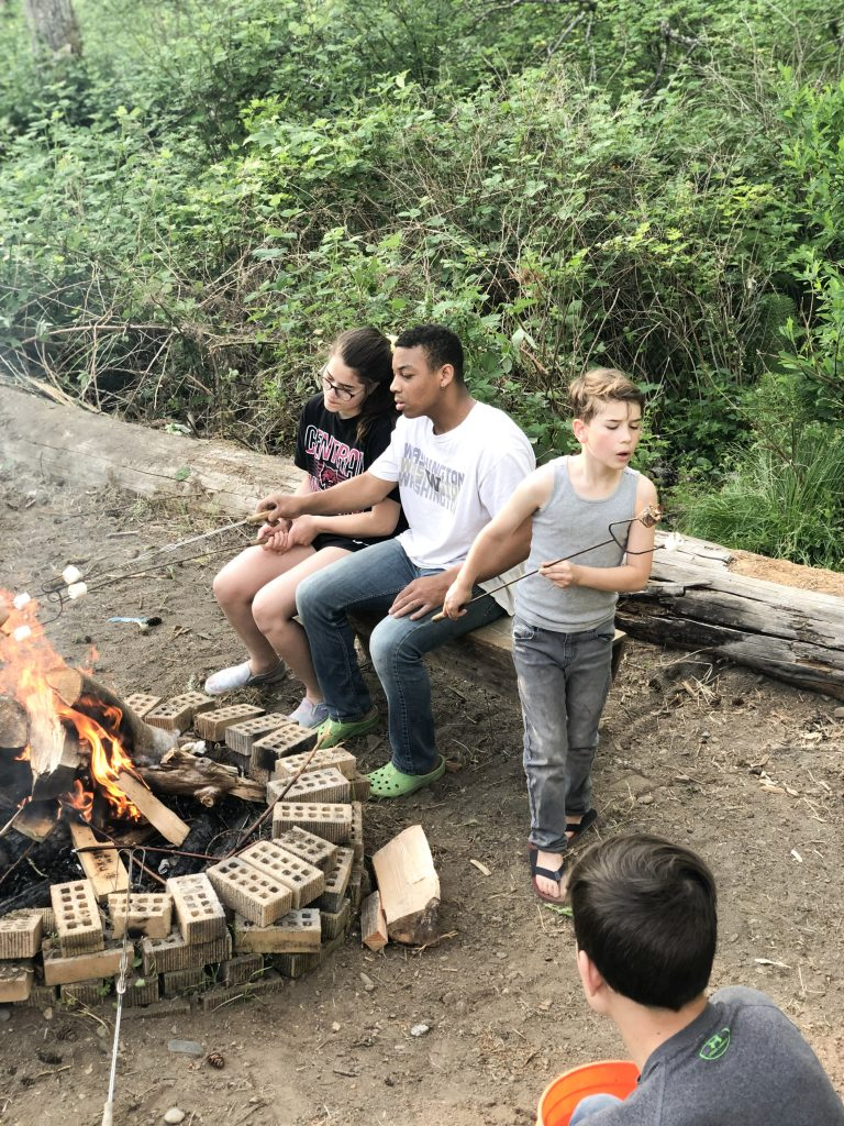 Kids enjoying our fire pit