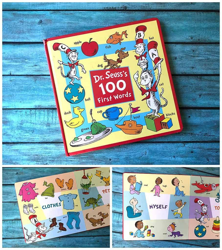 Dr Suess First 100 Words Review. Perfect first word book to grow your baby's love of reading.